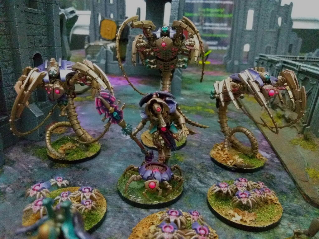 Cryptek, wraiths and scarabs in purple/turquoise/brass